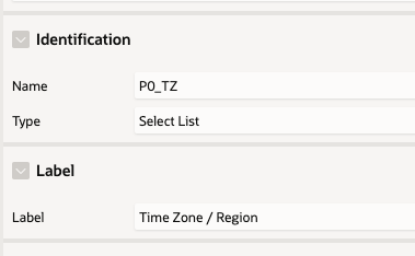 Change P0_TZ to be a Select List