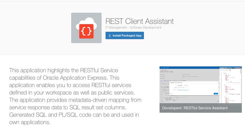 REST Services and Application Express 5 1 - Part 1