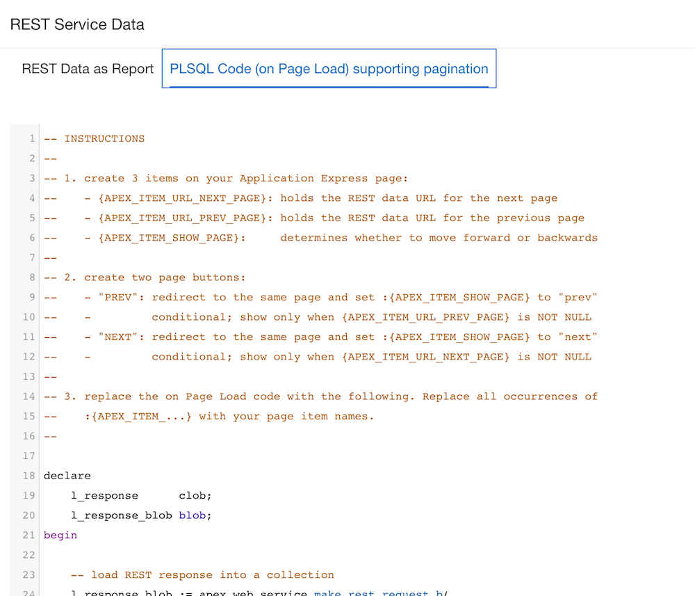 REST Services and Application Express 5 1: Pagination